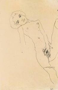 Egon Schiel Masturbating Girl