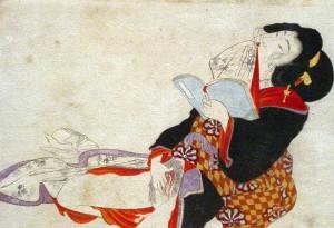 Shunga women masturbating
